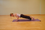 Exhale-Lower through Chaturanga